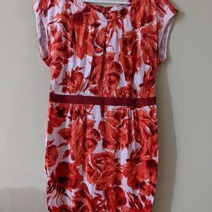 Scoup neck Floral dress